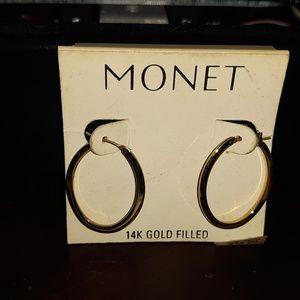 Monet 14 K Gold Filled Hoop Earrings